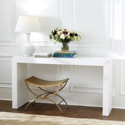 Luxury White Entry Table with Drawers
