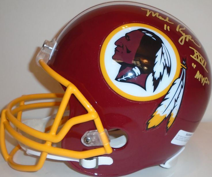 Mark Rypien signed Washington Redskins Riddell full size football helmet w/ proof photo.  Proof photo of Mark signing will be included with your purchase along with a COA issued from Southwestconnection-Memorabilia, guaranteeing the item to pass authentication services from PSA/DNA or JSA. Free USPS shipping. www.AutographedwithProof.com is your one stop for autographed collectibles from Washington DC sports teams. Check back with us often, as we are always obtaining new items.