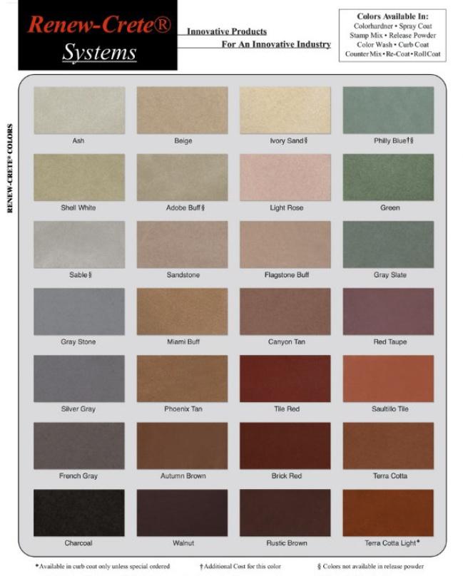 Integral Concrete Color