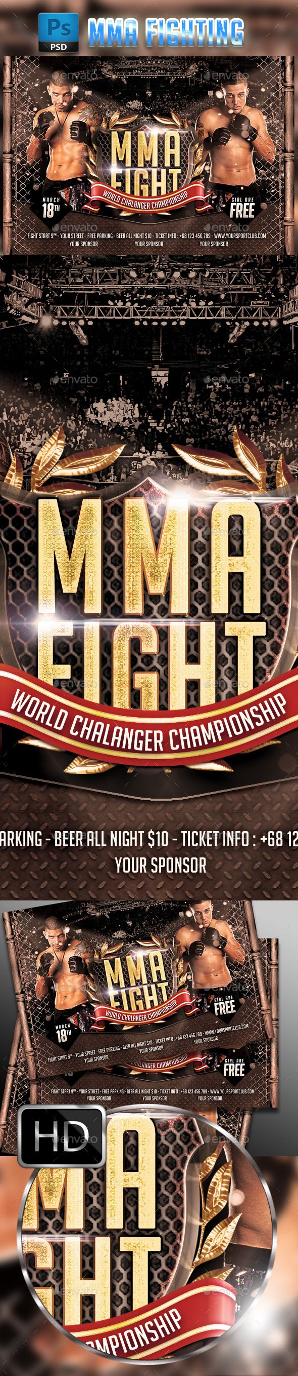 MMA Fighting Flyer Template #3