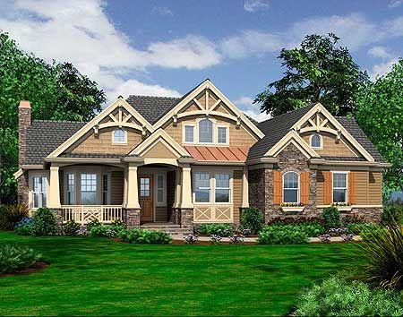 Plan W23256JD: Corner Lot, Northwest, Craftsman House Plans & Home Designs