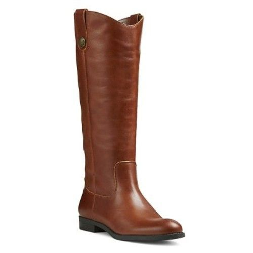 Women's Genuine 1976 Kasia Leather Tall Riding Boots - Cognac 7.5