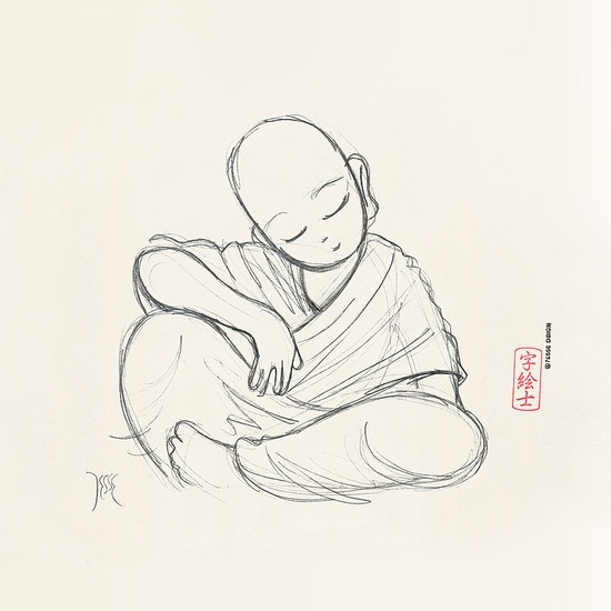 Monk sketch by: 7e55e  #buddhism