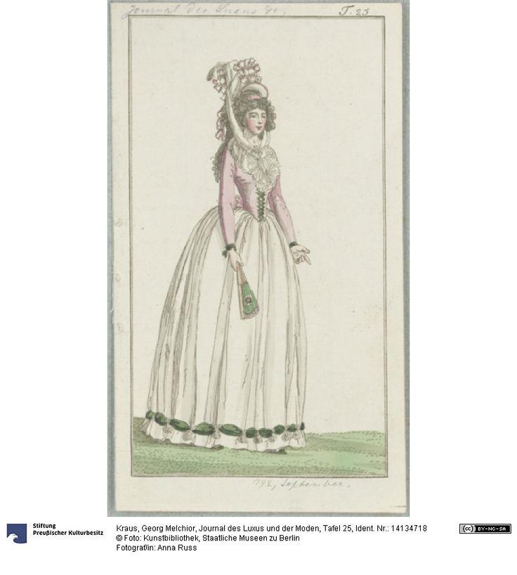 SMB-digital | Journal des Luxus und der Moden, Tafel 25, September 1792.