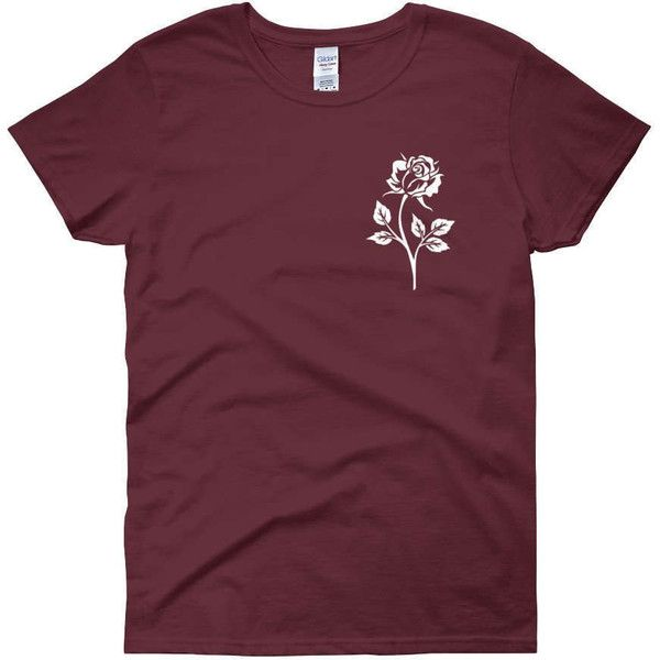 Rose Shirt Roses Tshirt Tumblr Shirt Rose Emroidery Shirt Women's... ($22) ❤ liked on Polyvore featuring tops, t-shirts, maroon, women's clothing, purple t shirt, heavy t shirts, maroon shirt, floral print t shirt and scoop neck tee