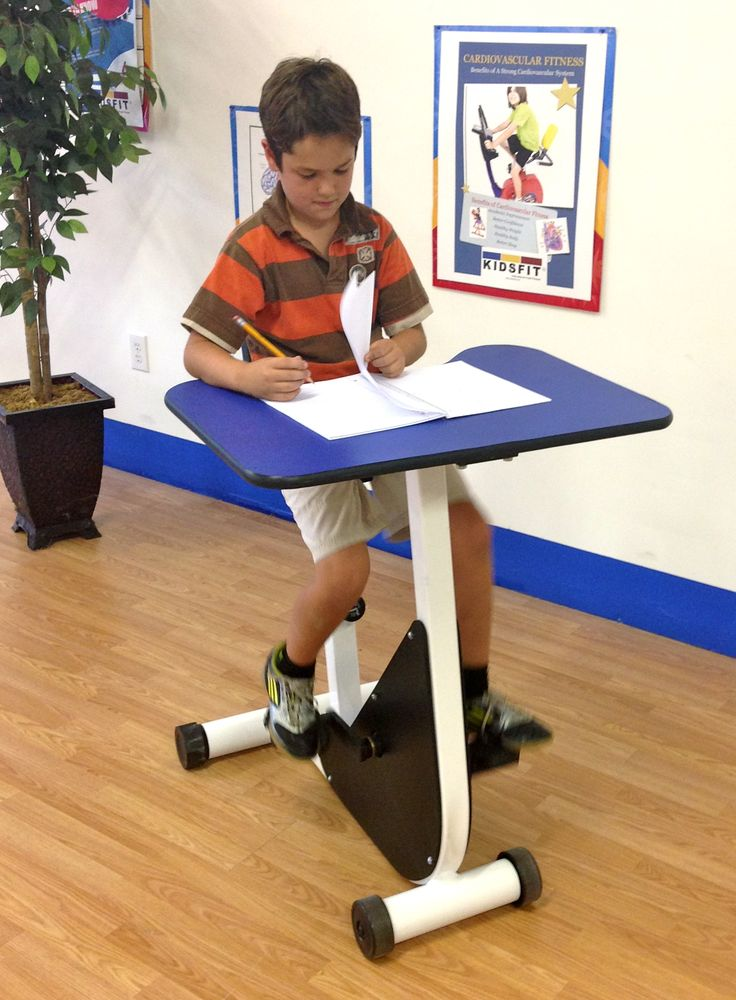 Research states that there is a direct correlation between activity and increased learning capacity! Kinesthetic learning desks provide the movement necessary to change the learning environment into one necessary for: *Increased Concentration *Increased Memory Retention *Increased Memory Retrieval Pictured is Model KC-35 Pedal Desk www.kidsfit.com CustomerService@kidsfit.com