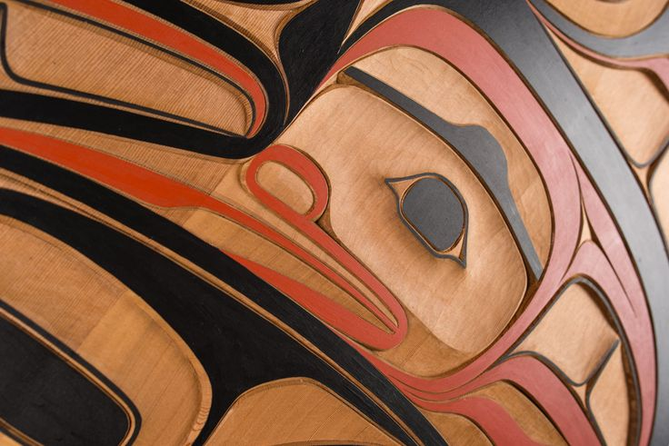 Red cedar Frog panel by Tsimshian artist Phil Gray