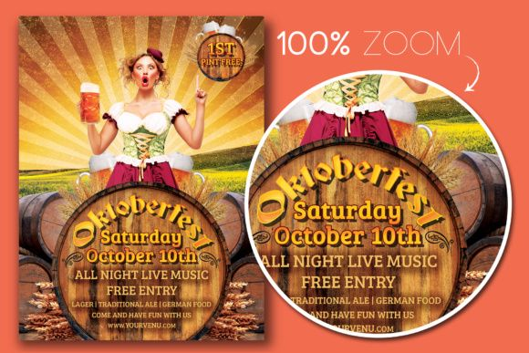 Oktoberfest Flyer Template Graphic By Designroom1229 Creative Fabrica Flyer Template Oktoberfest Free Flyer Templates