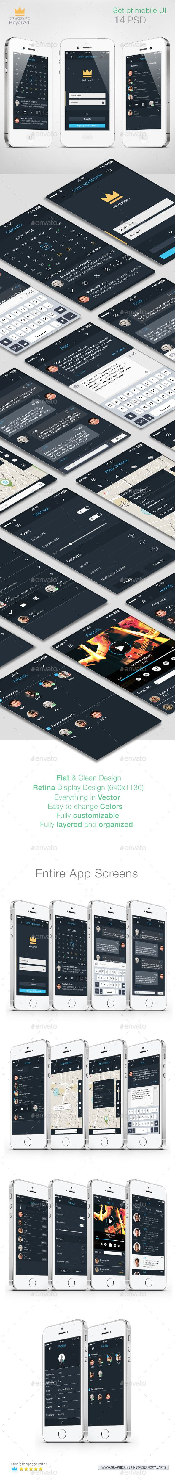 Mobile UI KIT Flat (User Interfaces)