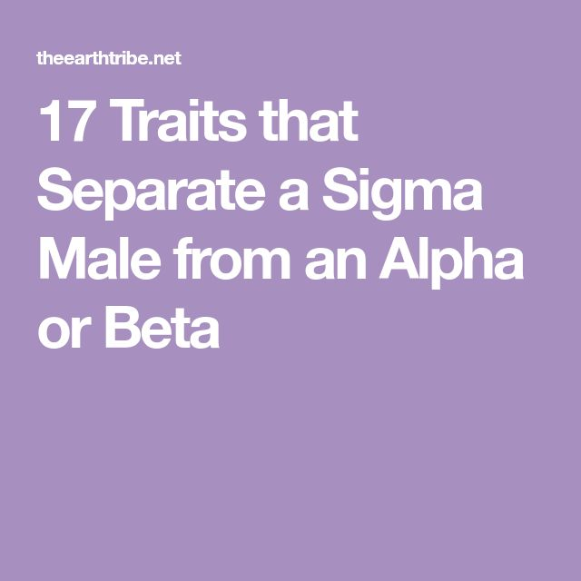 17 Traits that Separate a Sigma Male from an Alpha or Beta