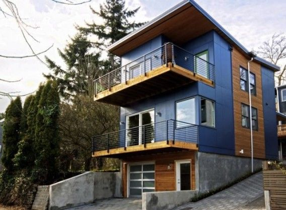 Evergreen homes alley house 2 pump house and green homes for Prefabricated homes seattle