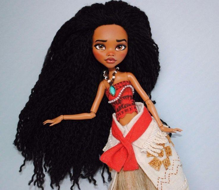 MOANA Monster High OOAK Disney Moana CUSTOM Doll Repaint puppe | Jouets et jeux, Poupées, vêtements, access., Poupées mannequins, mini | eBay!