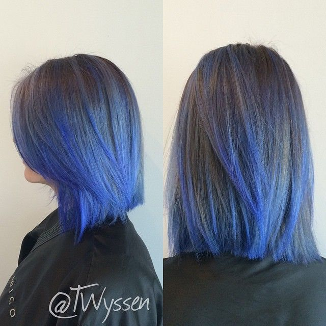 Indigo Blue Color Fade