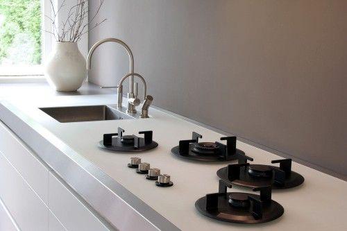 keukenwand afwerking : verven met watervaste verf + coating