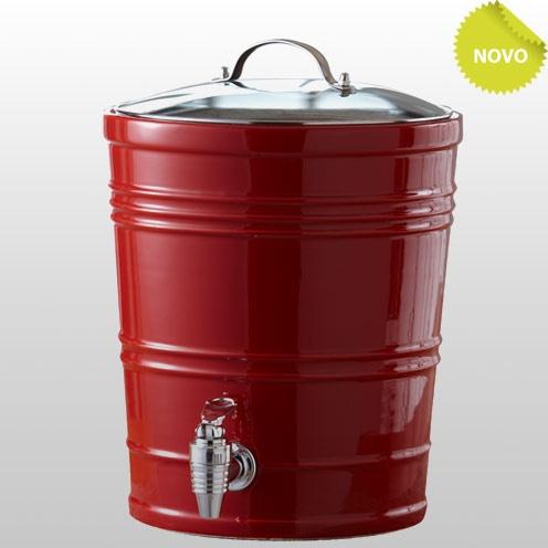 Brisk dispenser de bebidas vermelho