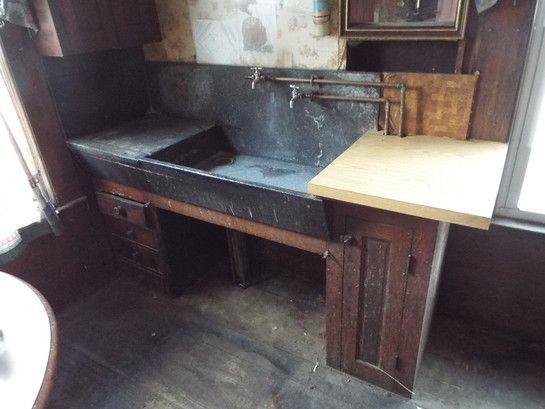 Antique Kitchen Sinks 26 Soapstone With Drainboard