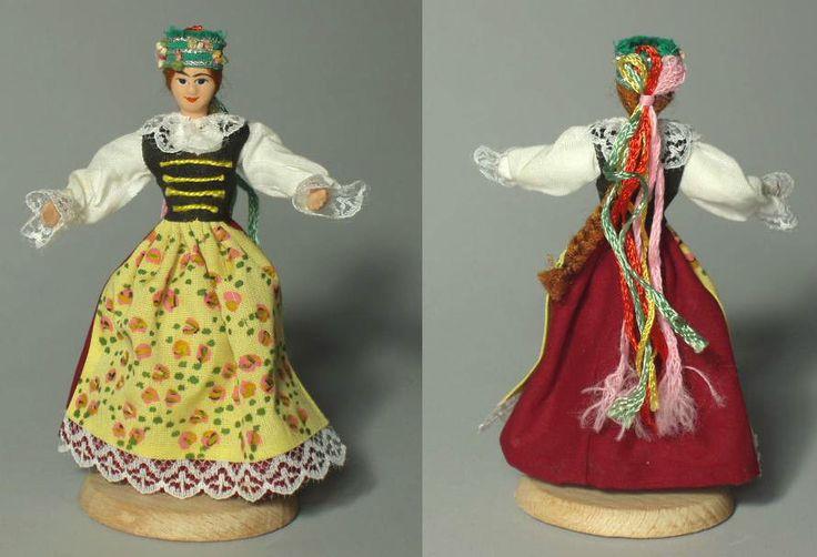 POLISH FOLK COSTUME DOLL - Slask Region - Poland Silesia ethnic dress apron cute