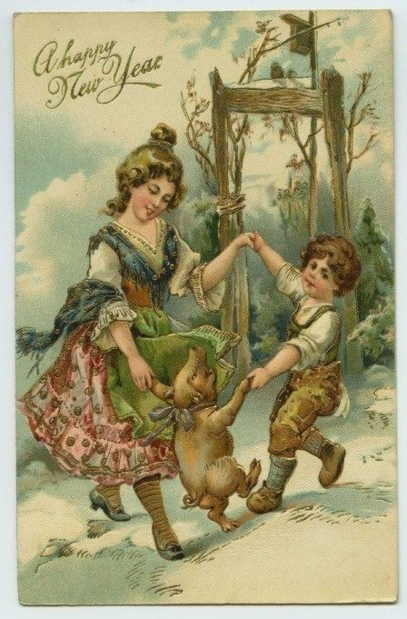354 best images about new years vintage cards on Pinterest ...
