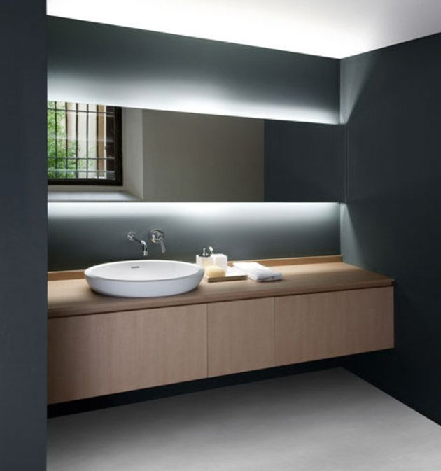 Serene Minimal Countertop Washbasin Gorgeous Hidden Lighting Agape Bathrooms The Hidden Landscape