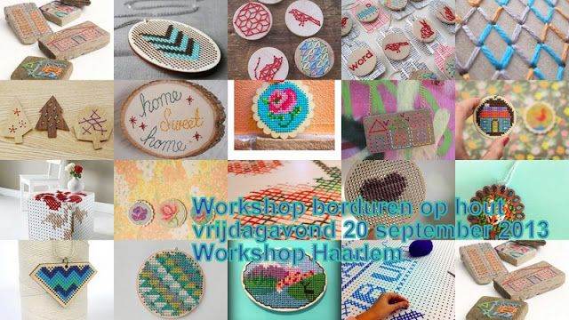 Workshop Haarlem: Workshop borduren op hout