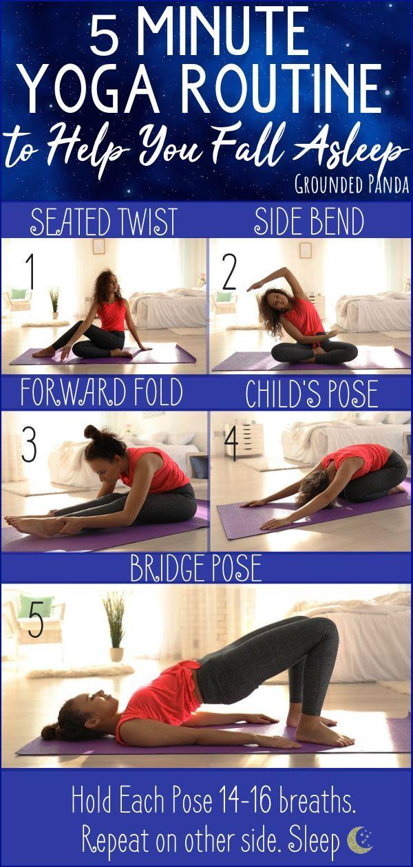 5 Minute Yoga Routine To Help You Fall Asleep Yoga Rove Yoga Routine For Beginners 5 Minute Yoga Yoga Routine