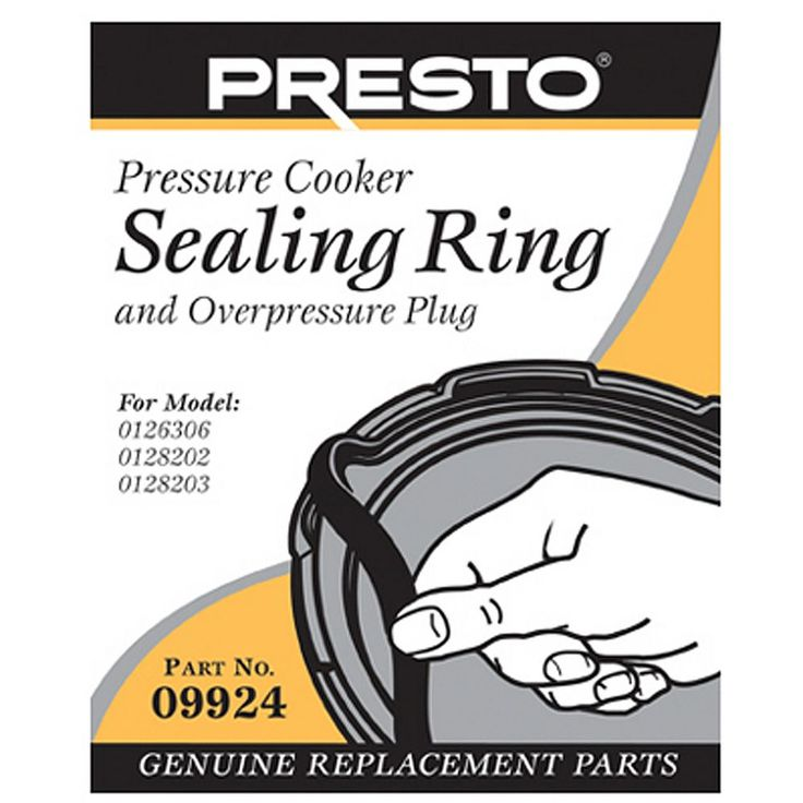Presto Sealing Ring and Overpressure Plug Replacement 09924, Multicolor