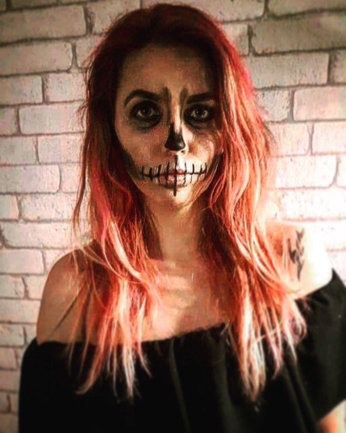 #halloween #tonight #saturday #sobota #instanow #itisme #halloweentoday #instaday #instagoid #makeup #creepy #pinkhair #lady #igmakeup #polskadziewczyna #polishgirl #onlygoodvibes #me #good #smile