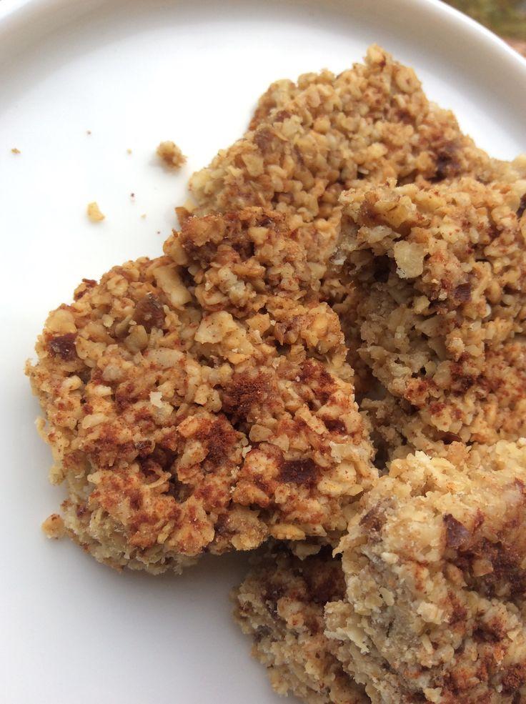 Havermoutkoek, suikervrij en koolhydraatvrij. Heerlijk als snel ontbijt.