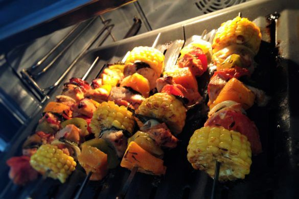 ♥ Baked Chicken and vegetable skewers // Cook Up A Passion