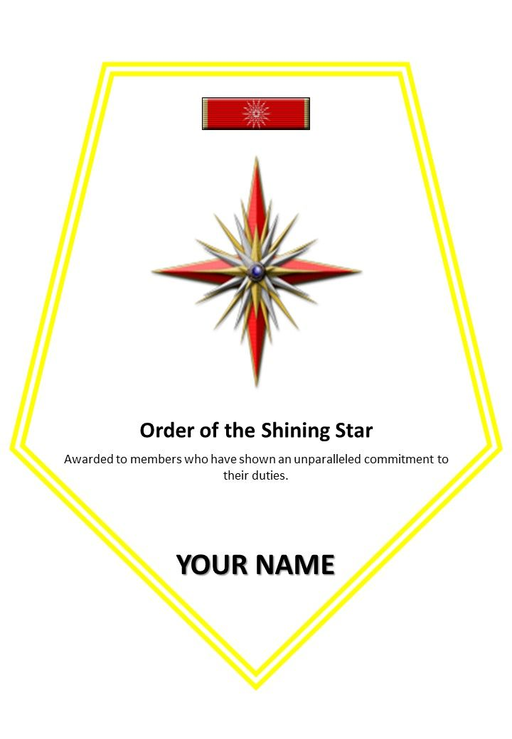 award order of the shining star star trek certificates in 2018