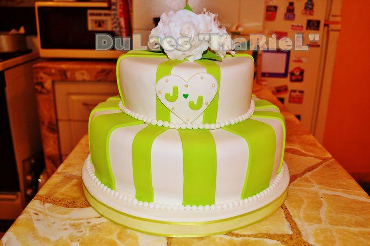 Torta de matrimonio civil | Tortas para Aniversarios | Pinterest