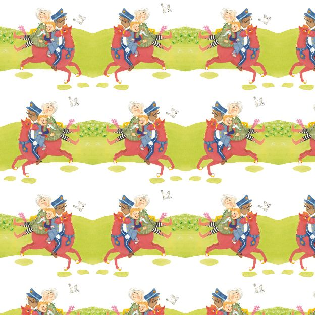 police on horse by @tirzabeekhuis  #pattern #horse #child #kids #illustration