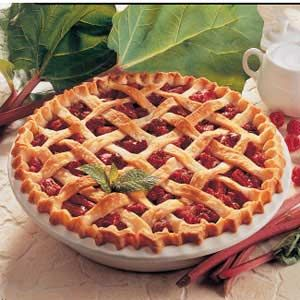Raspberry Rhubarb Pie ~ it is incredible.  So much better than strawberry-rhubarb.