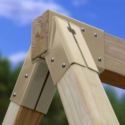Settler A-Frame Wooden Swing Set Kit  3 Swings