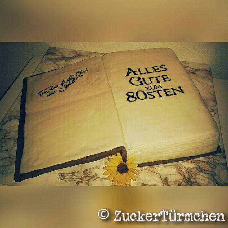 Motivtorte Geburtstag Buch Cake birthday book