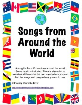 Music Around the World passports, Posters, Bulletin board- an example of a multicultural perspective- using songs from different countries for a music class