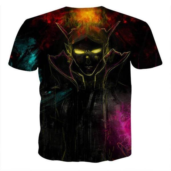 Invoker Black Cool Art Style 3D printed Invoker T-Shirt