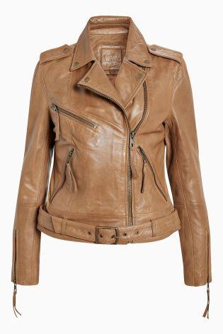 b6f577a3542 Tan Leather Biker Jacket | My Style ♡ in 2018 | Jackets, Tan ...