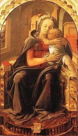 Fra Filippo Lippi, Madonna con el Niño, 1437, Museo d`Arte Antica, Roma