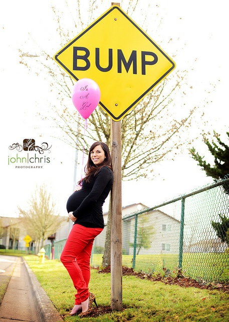 Baby bump with Bump road sign