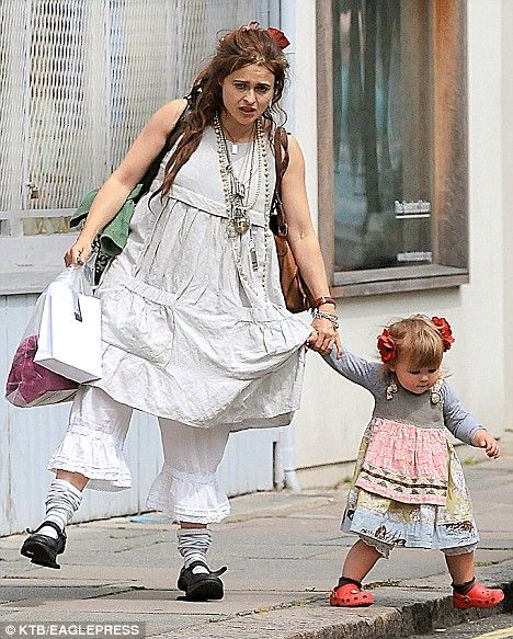 Just like Mum: Helena Bonham Carter steps out with daughter Nell in matching bloomers