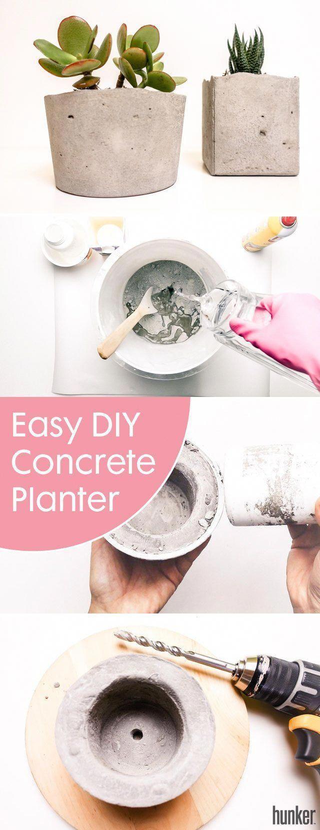 Easy DIY: Modern Succulent Planter Using Concrete