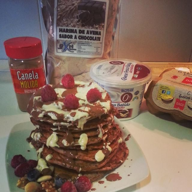 Pancakes de avena y claras de huevo #pancakes #fitness