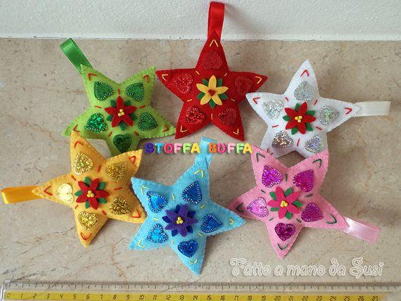 Stelle in feltro e pannolenci per decorare il tuo albero - Decorazioni natalizie fatte a mano per bambini ...