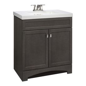 Style Selections Drayden Grey Integral Single Sink ...