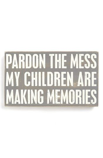 Primitives by Kathy 'Pardon the Mess' Box Sign available at #Nordstrom