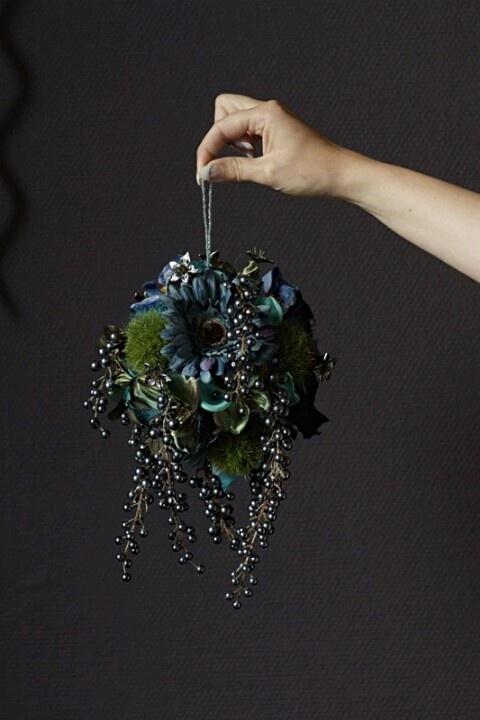 bruidsboeket zijde - leuk idee, vreselijke kleur