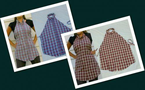 Как переделать мужскую рубашку на женский лад: фартук-сарафан