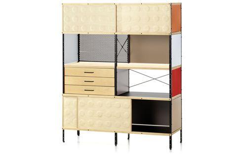 Eames ESU Bookcase or./red (NEW2015 ALU)