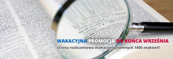 Biuro tłumaczeniowe PLAC FRANCUSKI ma dla Was wakacyjną  promocję. Sprawdźcie